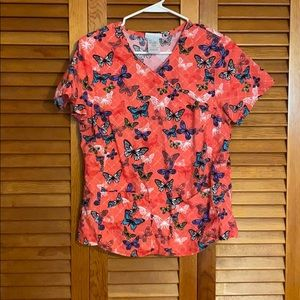Butterfly scrub top - Size S